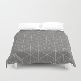 STAMEN popular taupe pattern with beige linear triangles Duvet Cover