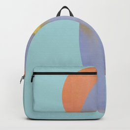 Surfboard and Sunrise, west-coast, pacific, surfing art Backpack