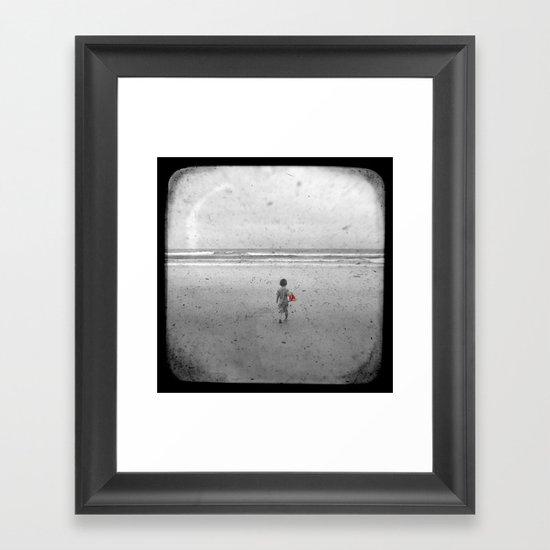 Little Red Sailboat - Through The Viewfinder (TTV) Framed Art Print