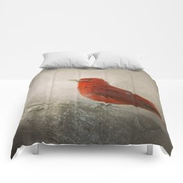 Song of the Summer Tanager 1 - Birds Comforters