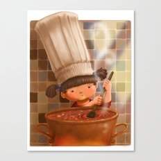 Little Chef Canvas Print