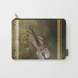 Wonderful violin with clef and key notes Carry-All Pouch