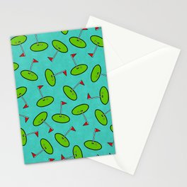Putting Green // Turquoise Stationery Cards