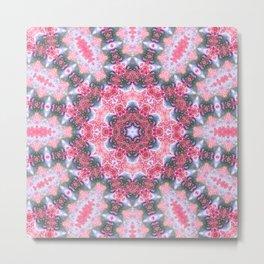 Pink Eyeball Mandala Metal Print