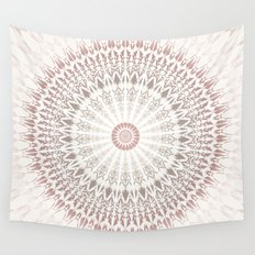 Cream Rose Mandala Wall Tapestry
