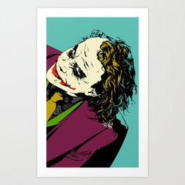 Joker So Serious Art Print