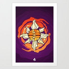 Solrock - Fire Spin Art Print