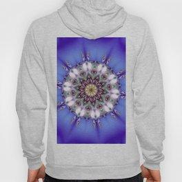 Romantic Blue Kaleidoscope Hoody