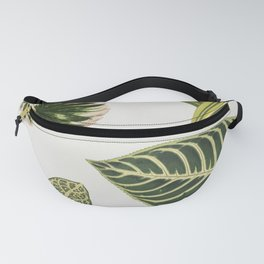 Green Botanical Plants Watercolor Pattern Fanny Pack