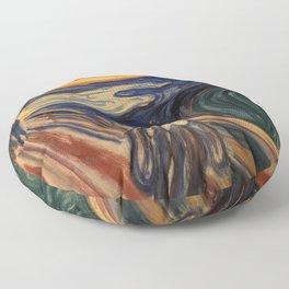 The Scream by Edvard Munch Floor Pillow