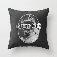 Never Mind The Furballs! Throw Pillow