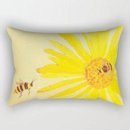 Sunflower and Bee by Twelve Little Tales Rectangular Pillow