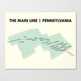 The Main Line, Pennsylvania Canvas Print