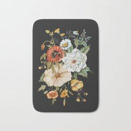 Wildflower Bouquet on Charcoal Bath Mat