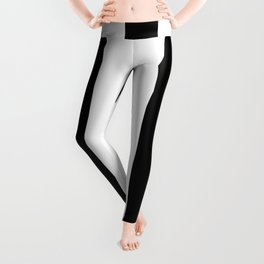 Lowest Price On Site - Vertical Black and White Stripes Leggings