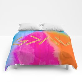 God Is Greater - Tie Dye Comforters