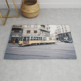 Tram in Milan Rug
