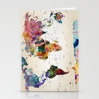 paint Stationery Cards featuring map by mark ashkenazi