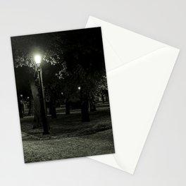 Divenskiy garden (city park) at night, St. Petersburg (Russia) (2018-7SPB98) Stationery Cards