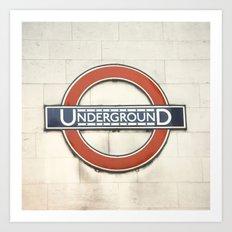 Underground - London Metro Photography Art Print