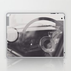 Super car details, british triumph spitfire, black & white, high quality fine art print, classic car Laptop & iPad Skin