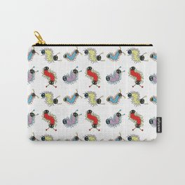 Wiggily Cartoon Colourful Caterpillars Carry-All Pouch