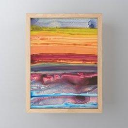 Jupiter Flare Framed Mini Art Print