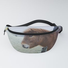 Brown Horse in Iceland Fanny Pack