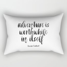 PRINTABLE Art Amelia Earhart,Adventure Time,Travel Gifts,Travel Poster,Adventure Awaits,Inspired Rectangular Pillow