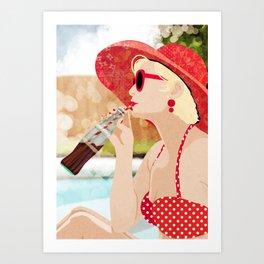 Retro Vacation Art Print