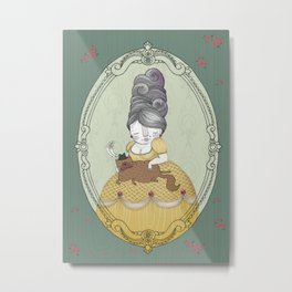 The Fancy Cat Lady Metal Print