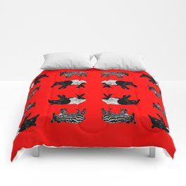 Dance of the Tapirs in red Comforters