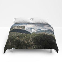 Half Dome Clouds - Yosemite National Park Comforters