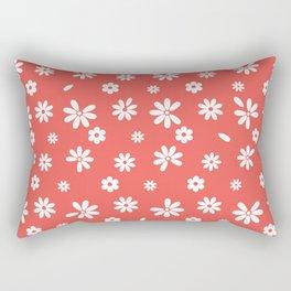 Flowers and Petals Rectangular Pillow