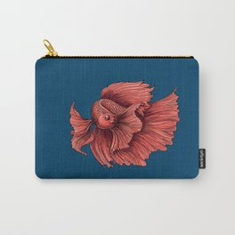 Coral Siamese fighting fish Carry-All Pouch