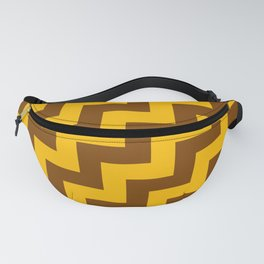 Amber Orange and Chocolate Brown Steps RTL Fanny Pack