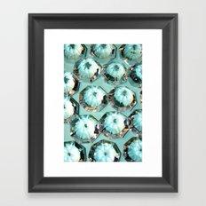 Diamonds // Turquoise Framed Art Print
