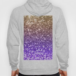 Luxury modern violet lilac faux gold sequins glitter Hoody