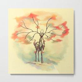 Essence of Nature - A Deer's Echo Metal Print