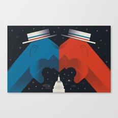 Debate Canvas Print