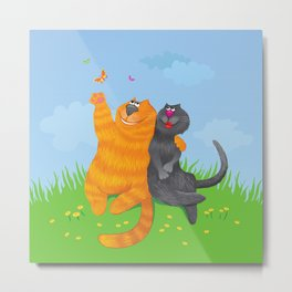 Cat lovers Metal Print