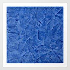 Beautiful Vibrant Light Blue Plaster #society6 #bluedecor #blue Art Print