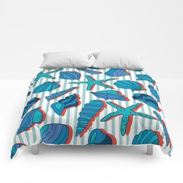 summer time blue Comforters