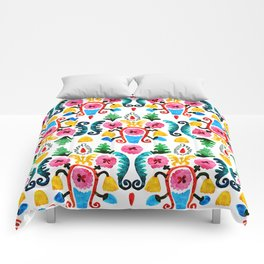 Colorful oriental watercolor floral pattern. Comforters