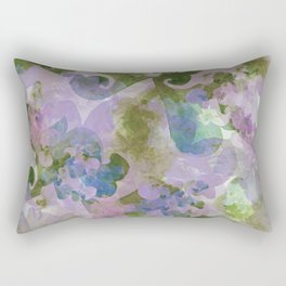 Water Color - hand-painted Heart-Whales - 02 multi-color pattern Rectangular Pillow