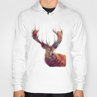 master chief Hoodies featuring Red Deer // Stag by Amy Hamilton