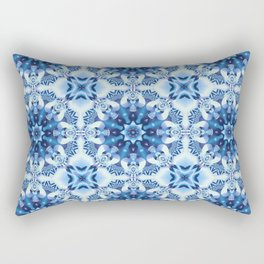 Tribal patterns in blue tones Rectangular Pillow