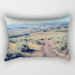 Follow the Trail 1: Yellowstone National Park Rectangular Pillow