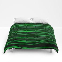 Apple Green Stripes Comforters