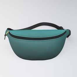 Teal Black Ombre Fanny Pack